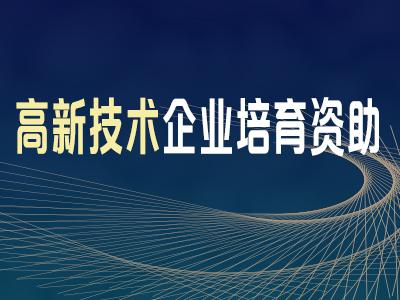 高新技术企业培育资助